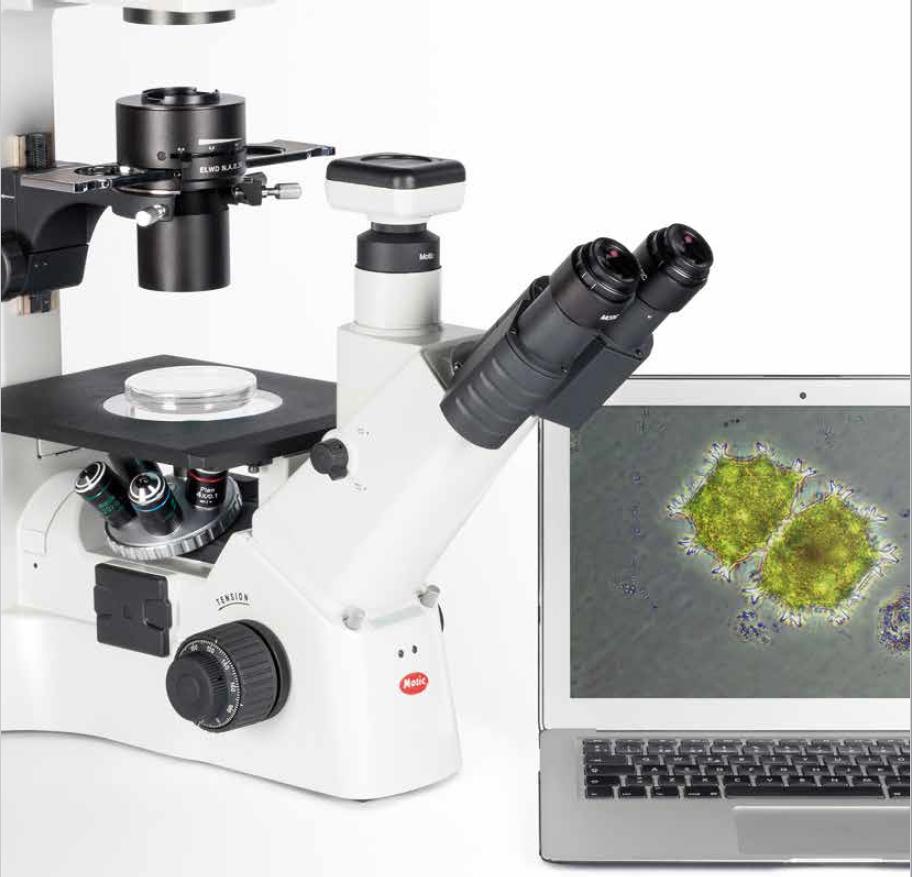 מיקרוסקופ אינברטד (הפוך) עם אופציית פלואורסנציה